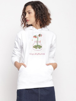 Love for Plants Floral Graphic Hoodie