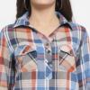 Purplicious Women Multicoloured Comfort Regular Fit Checked Casual Shirt