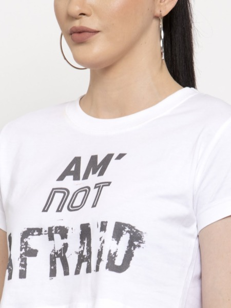 Am' Not Afraid Crop Top Tee by Purplicious