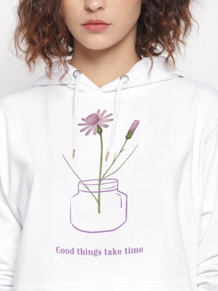 Good Things Floral Graphic Hoodie