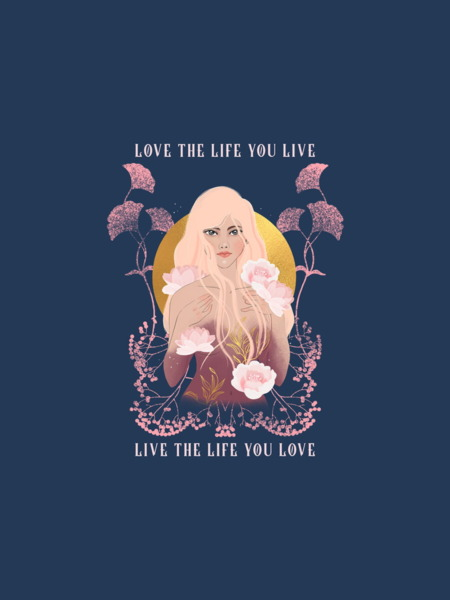 Love The Life you Live Graphic Hoodie