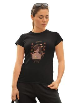 Femininity And Nature Half Sleeve T-shirt by Purplicious