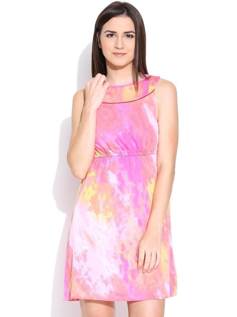 Purplicious-Pink-Printed-Fit--Flare-Dress