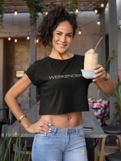 Weekender Crop top T-shirt by Purplicious