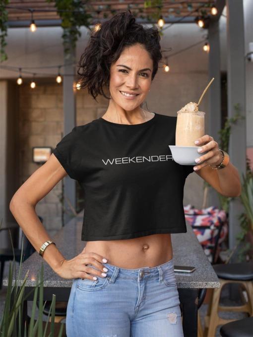 Weekender Crop top T-shirt by Purplicious